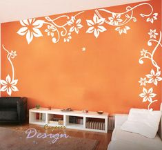 Big Flowers flying----Vinyl Art Graphic Wall Stickers mural Decal