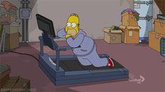 Y luego dices que no bajas yendo al gimnasio { GIF } #deporte #homero