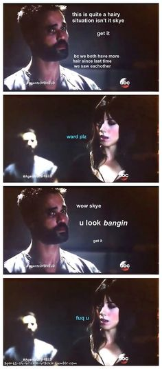 A hairy situation || Grant Ward, Skye || Agents of Frickle Frackle || 520px × 1,180px || #fanedit #humor