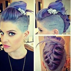 Kelly Osborne,  purple mowhawk
