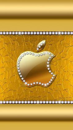 Apple Apple Logo Wallpaper Iphone, Phone Screen Wallpaper, Wallpaper Iphone Disney, Iphone Wallpapers, Phone Backgrounds Tumblr, Wallpaper Backgrounds, Golden Wallpaper, Vintage Flowers Wallpaper, Girly Phone Cases