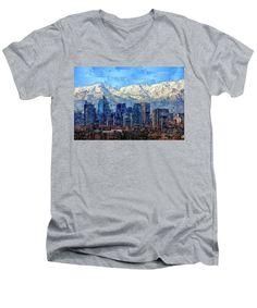 Men's V-Neck T-Shirt - Santiago De Chile, Chile