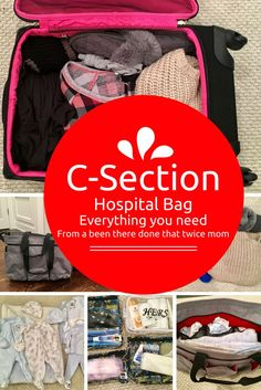 The ultimate guide to packing a hospital bag for a c section! Written by a been there done that twice mom. Goes over exactly what you need. via @easylivingtoday