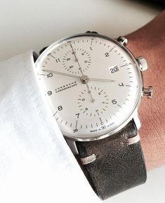 Top 50 luxury watch brands in the world - Junghans Max Bill Chronoscope . - Top 50 luxury watch brands in the world – Junghans Max Bill Chronoscope … – WooHoo - Amazing Watches, Beautiful Watches, Cool Watches, Stylish Watches, Luxury Watches For Men, Junghans Max Bill Chronoscope, Timex Watches, Luxury Watch Brands, Tag Heuer