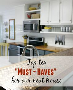 What are the top ten things you would want in your next house? I agree with a lot of things in this post...the comments sections has lots of great ideas and options too. A must read if you are planning to build a house!