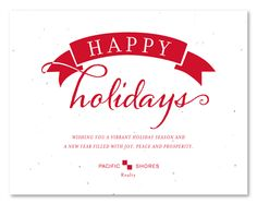Plantable business holiday cards on seeded paper ~ Wintertime by Green Business Print. Remind your clients of the holidays with these cards, looking like a bow on a present.