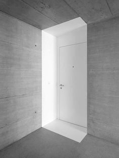 Architecture we like / Door / Painted / White / Cube / Concrete / Detail / at inspiration
