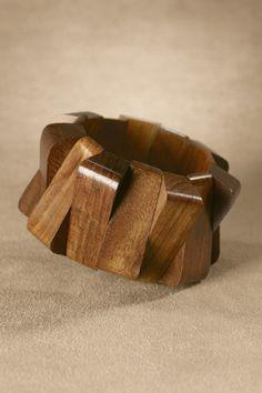 Tangier Stretch Bracelet - Hand Carved Bracelet, Wood Bracelet, Wood Bead Bracelet | Soft Surroundings