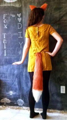 BITS: DIY No Sew Fox Tails