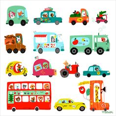 my little double decker bus fanatic would love this! so much great art on this site.