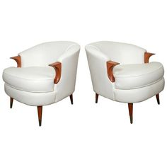 Mid-Century Adrian Pearsall Style Chairs   From a unique collection of antique and modern armchairs at https://www.1stdibs.com/furniture/seating/armchairs/