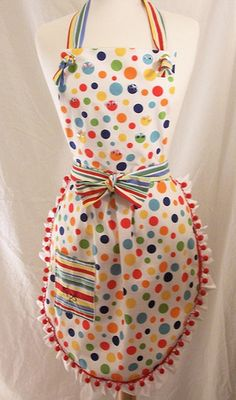 we wear cute vintage aprons at our bakery