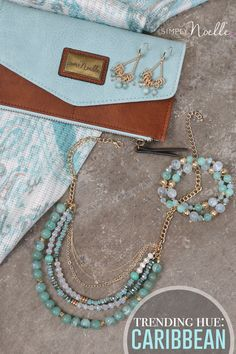Planning a vacation? Get inspired for your next getaway with our caribbean blue accessories!