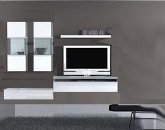 Meuble tv en placo tutoriels de zonetravaux pinterest for Muebles tv colgados