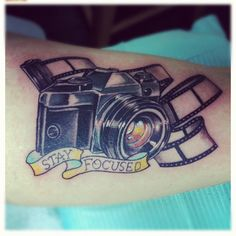 windshield diaries: Stay Focused #cameratattoo #camera #tattoo #tatoo #cameratatoo