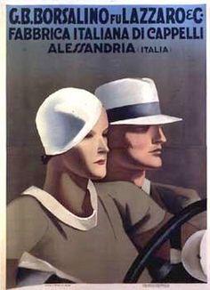 Borsalino - illustratore Marcello Dudovich  (1930)