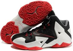 http://www.asneakers4u.com/ LeBron James XI Men Shoes in Black White and Red