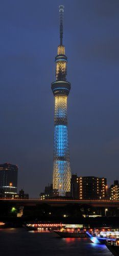 Skytree skyscraper in Tokyo, Japan.  It's brand new- just opened in May!  And it's earthquake proof!