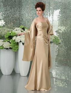 Gorgeous Strapless Satin Bridesmaid Dress