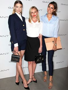 Fashion Week 2015: The Biggest Stars, Best Shows and Most A-List Parties | HOUSE OF GANT PRESENTATION | There's a lot of inspiration to be taken from Jaime King, Kate Bosworth (carrying Dolce & Gabbana) and Louise Roe here. It's up to you whether you'd like to copy the outfits, hair or perfectly on-point makeup. (Or all of the above!)