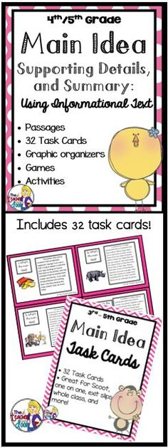 It is a graphic of Gorgeous Printable Main Idea Games