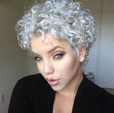 The best collection of Great Curly Pixie Hair, Pixie cuts, Latest and short curly pixie haircuts, Curly pixie cuts pixie hair Short Natural Curly Hair, Grey Curly Hair, Short Curly Pixie, Short Grey Hair, Curly Hair Cuts, Short Hair Cuts, Curly Hair Styles, Natural Hair Styles, Pixie Cuts