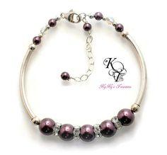 Sterling Silver Bracelet, Pearl Braclet, Bridesmaid Bracelet, Bridal Bracelet, Wedding Jewelry, Sterling Jewelry, Bridesmaid Gift, Bride