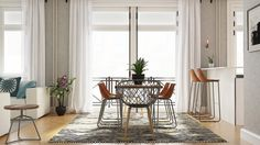 See how we designed this space into a living and dining room built for entertaining Dining Room Design, Interior And Exterior, Entertaining, Curtains, Inspiration, Ideas, Home Decor, Corner Dining Nook, Biblical Inspiration