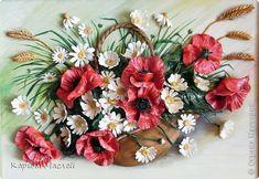 Картина панно рисунок Лепка Рисование и живопись Картины цветов и по мелочам  Тесто соленое Фарфор холодный фото 1
