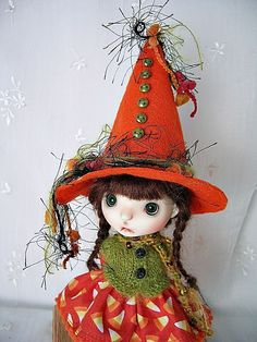 """Halloween Candy Outfit for Connie Lowe Pocket Sprocket 5.5"""" made by Ulla #ulladesigns"""