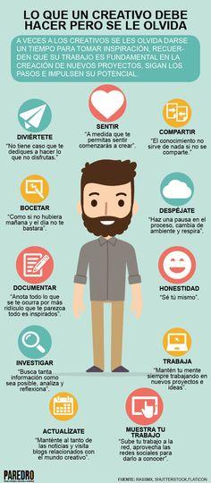 Hola: Una infografía sobre Lo que un Creativo debe hacer pero se le olvida. Vía Un saludo