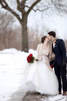 . Winter Wonderland * | * | *  # wedding #bridal #kiss