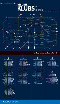 Ich bin ja eher Stubenhocker, dennoch ist dies echt ziemlich nice. Das Berliner U-Bahn-Netz als Clubkarte mit Läden für House / R&B / HipHop, Techno / Electronic, Indie / Alternative / Rock, Jazz / Swing und Latin. Embedded from Wimdu Blog (via blogrebellen)