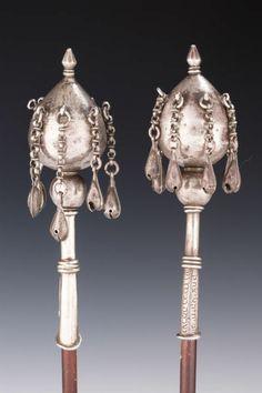 rimonim, Iraq ca 19th century, silver