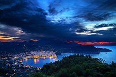 Panoramic view of Skopelos town (Skopelos island, Northern Sporades, Greece) from Palouki mountain. EXIF DATA 28 mm 15 sec ISO 200 Camera: Canon EOS Mark II Greek Islands, Hercules, Canon Eos, Twilight, Greece, Mountain, Clouds, Explore, Outdoor