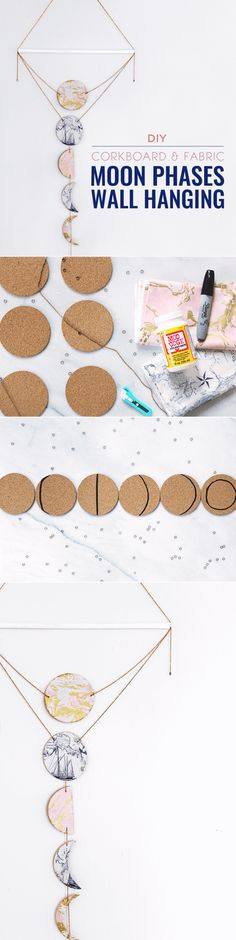 DIY Moon Phases Wall Hanging - Common Canopy