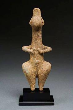 Northern Iran, Amlash terracotta idol,1000 BCE.