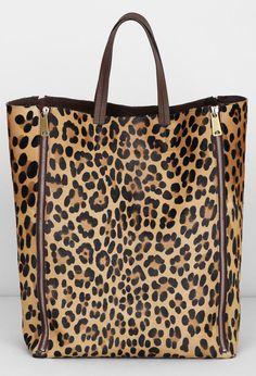 a leopard print bag