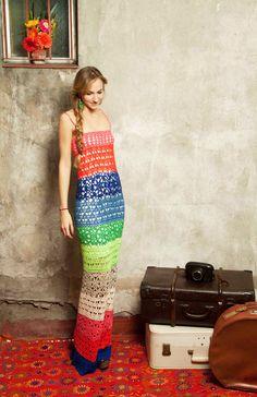 vestido largo colores — de las bolivianas