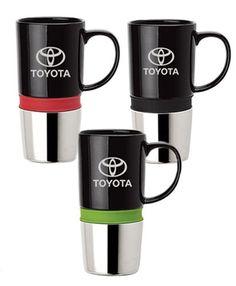 Toyota Ceramic/chrome mug  http://www.carvertoyota.com