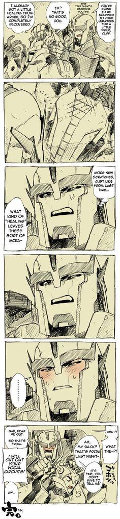 Ratchet's face of realization.