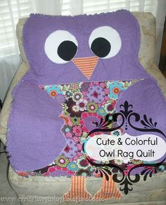 DIY~Owl Quilt- tutorial (great baby gift, birthday or holiday gift for a toddler or young kid too!