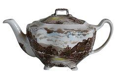 Johnson Bros. English Countryside Teapot on OneKingsLane.com vintage  LOVE TEAPOTS