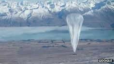 Google is launching balloons into near space to provide internet access to buildings below on the ground.