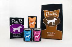 Elegant looking dog food. Pure Pet Dog Food Packaging & Branding by Joey Ellis, via Behance Food Branding, Food Packaging, Pet Dogs, Dog Cat, Pets, Chicken Specials, Cat Food Brands, Dog Cookies, Pet Treats