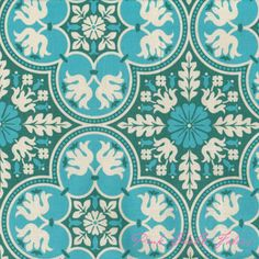 Curtains in my office? Joel Dewberry Notting Hill Historic Trail Teal