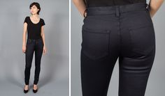 The most comfortable and malleable denim ever experienced by the naked bottom! Betabrand, Stretch Denim, Work Wear, Indigo, Capri Pants, Black Jeans, Comfy, My Style, Naked