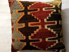 Kilim pillow coverTurkish kilim pillowbohemian by MysticalAnatolia