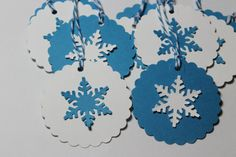 10 Beautiful Winter Snowflake Tags by ThePaperOwl13 on Etsy, $5.00