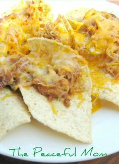 Barbeque Chicken Nachos -- A delicious  appetizer.